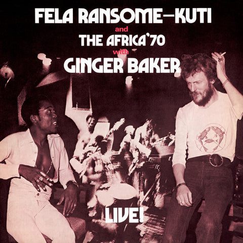 "Fela Kuti and The Africa 70 with Ginger Baker ""Live!"" (1971) LP Vinyl"