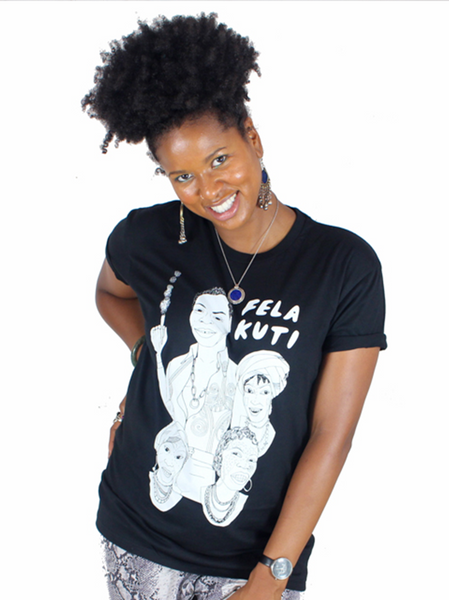 Fela Kuti Puff Puff Pass T-Shirt (Black / White)