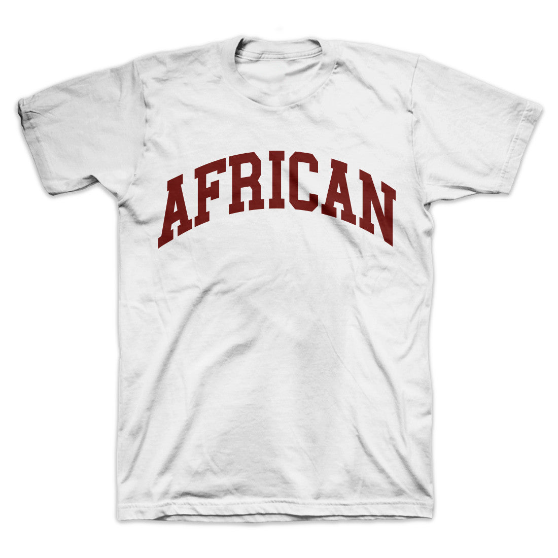 AFRICAN Collegite T-Shirt White