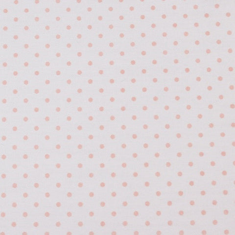unembroidered fabric - pink polka dot