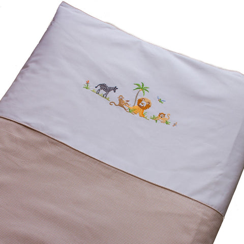 crib duvet cover on safari