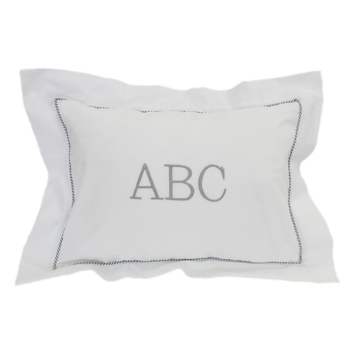 grey abc boudoir pillowcase