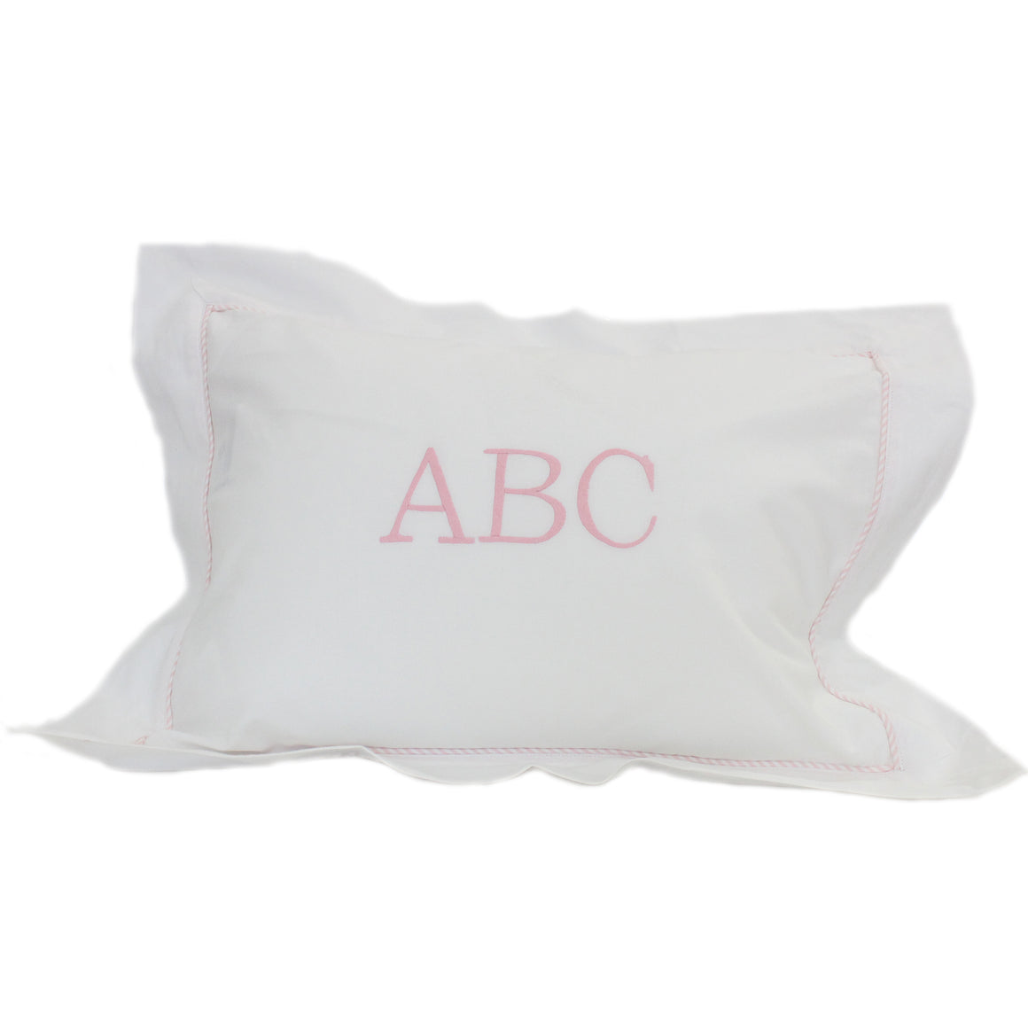 pink abc boudoir pillowcase