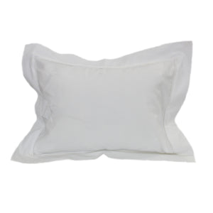 white on white baby bees boudoir pillowcase