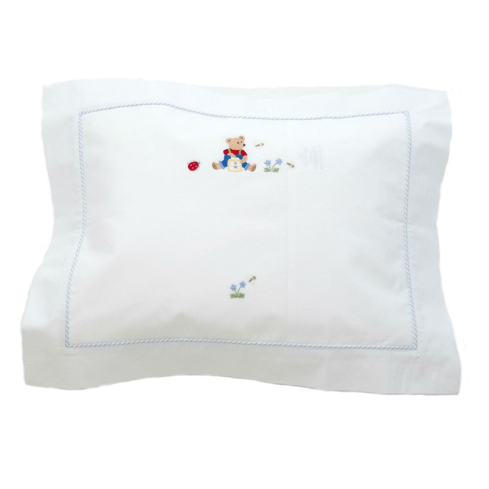 blue nursery time boudoir pillowcase