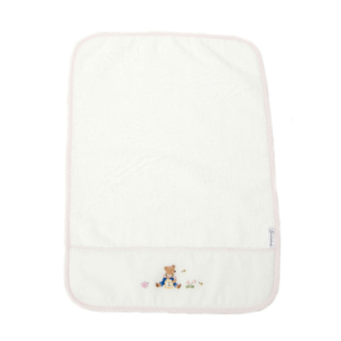 burp cloth teddy bear pink