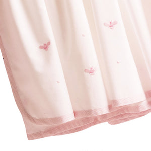 pink baby bee crib dust ruffle