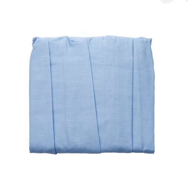 blue oxford classic crib dust ruffle