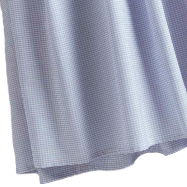 blue gingham crib dust ruffle