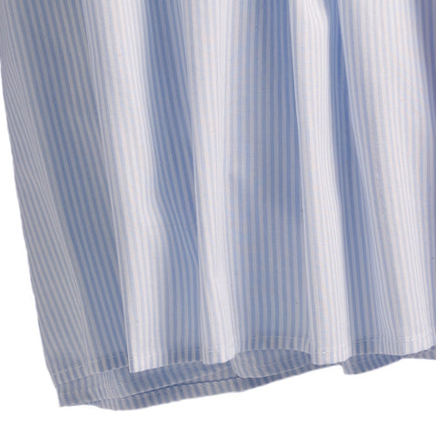 blue stripe crib dust ruffle