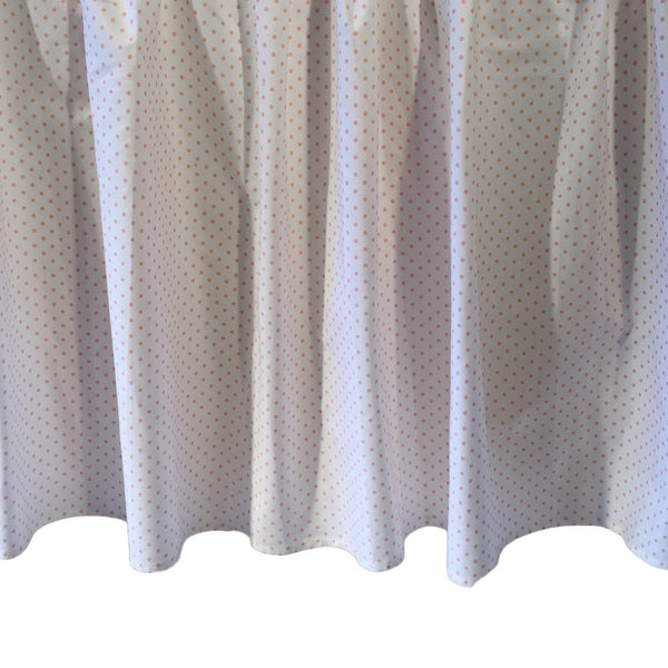 pink polka dot crib dust ruffle