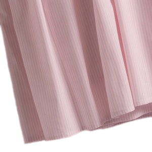 pink stripe crib dust ruffle