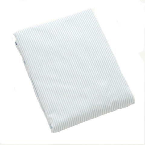 blue stripe fitted crib sheet