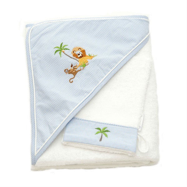 hooded towel on safari