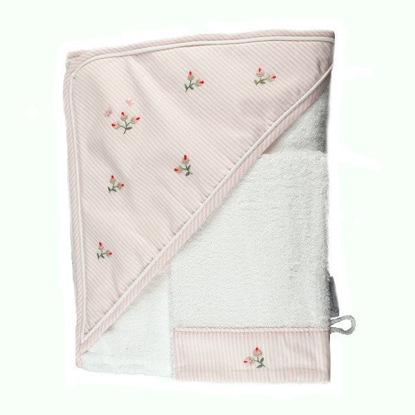 hooded towel rosebud