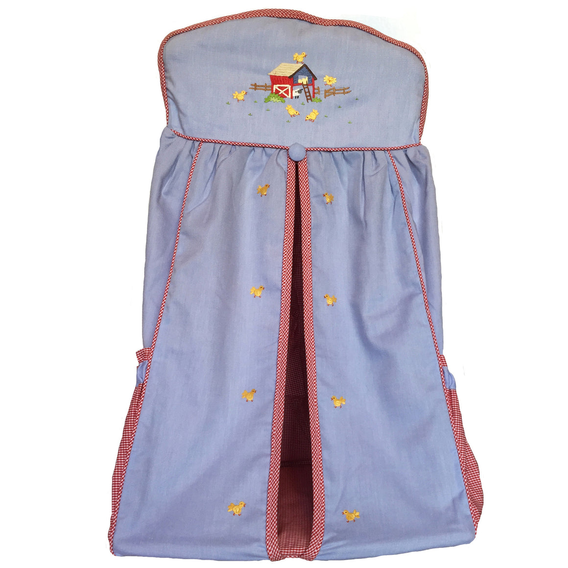 nappy stacker little barn blue