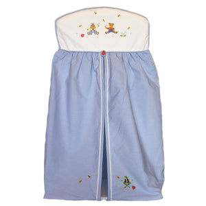 nappy stacker nursery time blue
