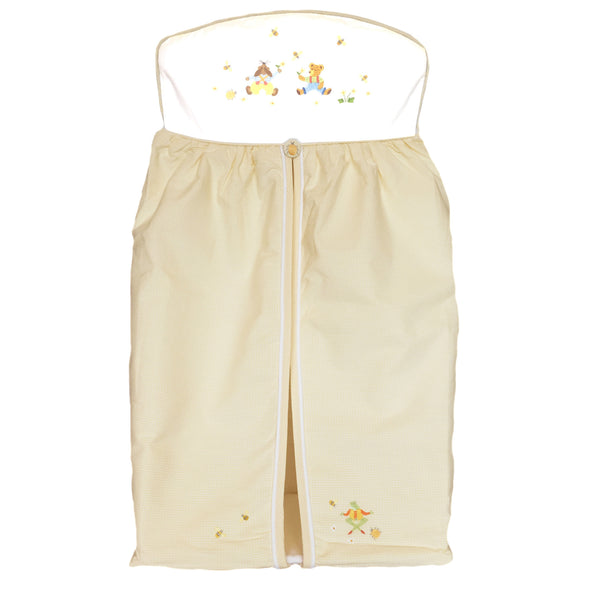 nappy stacker nursery time yellow