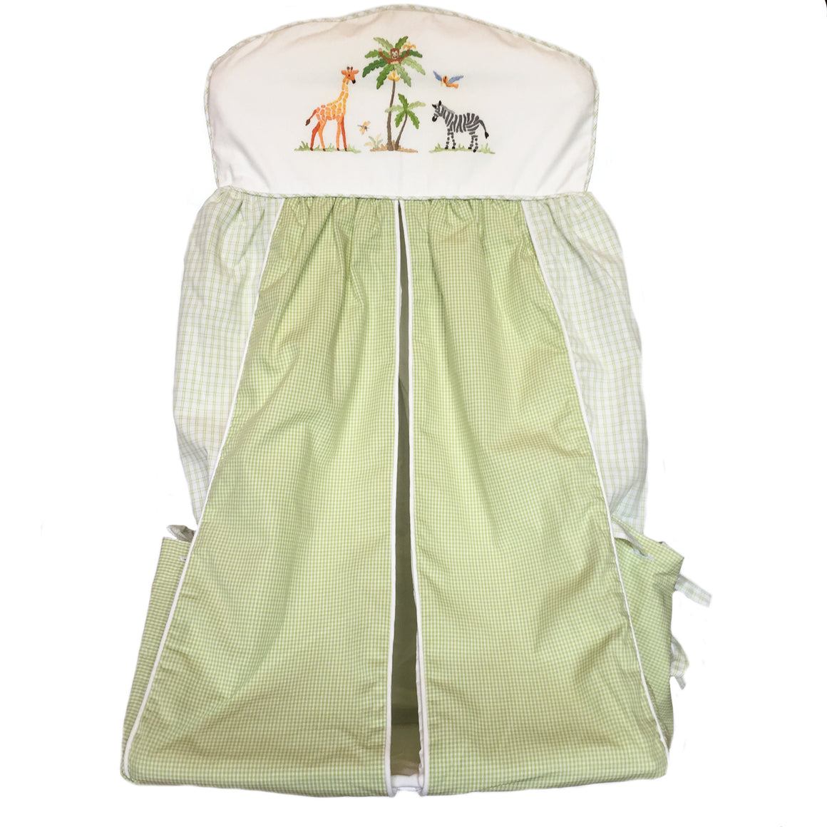 nappy stacker on safari green