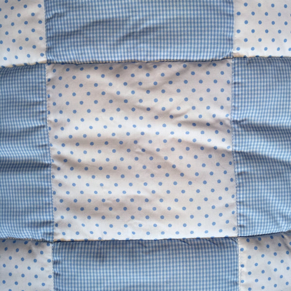 baby quilt unembroidered blue