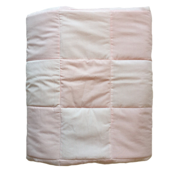 baby quilt unembroidered pink