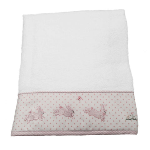 terry bath towel - bunny tea party