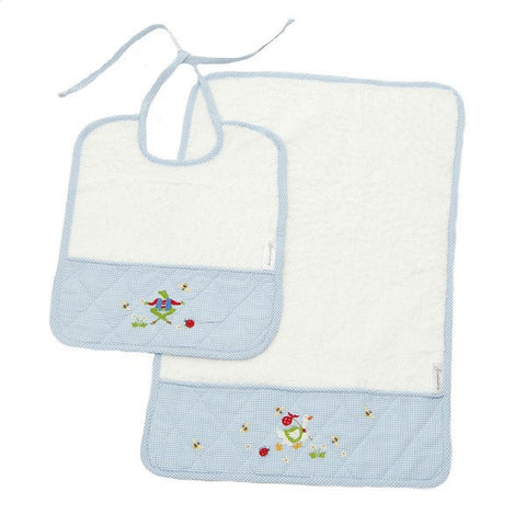 bib and burp set nursery time