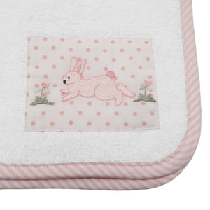 terry face cloth - bunny tea party
