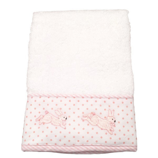 terry guest towel - bunny tea party