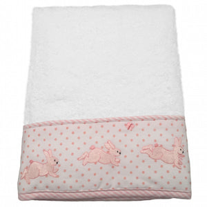 terry hand towel - bunny tea party