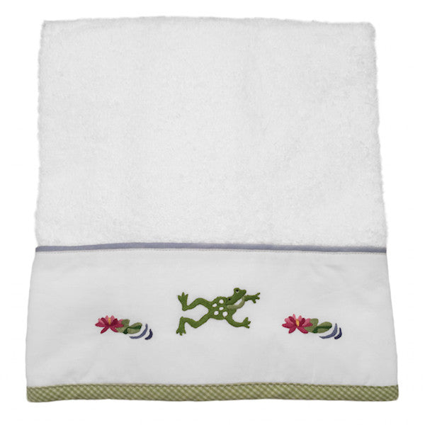 terry hand towel - froggy pong
