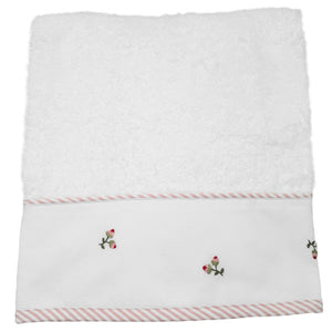 terry hand towel - baby rosebuds