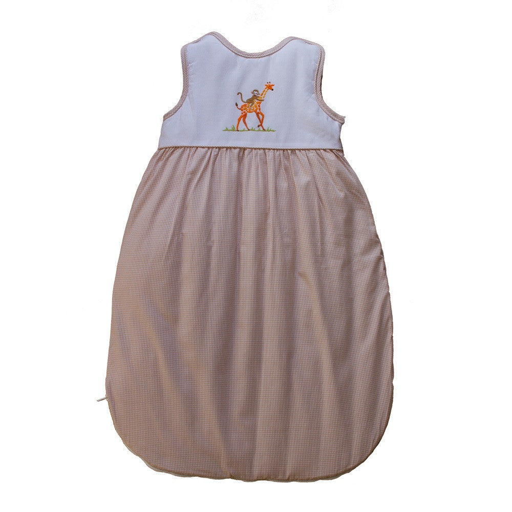 beige on safari sleepsack