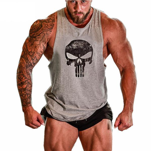 Grey Punisher Tanktop - Fitness Elephants