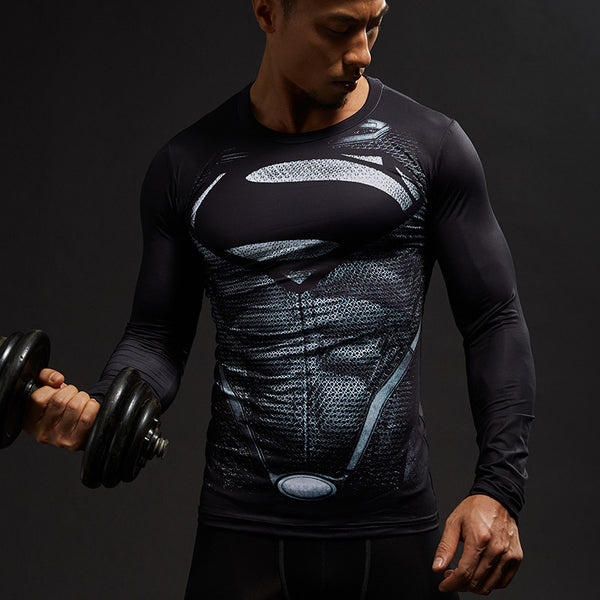 New Superman Compression Shirt - Fitness Elephants