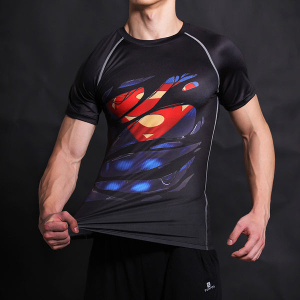 Superman Alter Ego Compression Shirt - Fitness Elephants