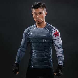 Winter Soldier Avengers Compression Shirt - Fitness Elephants