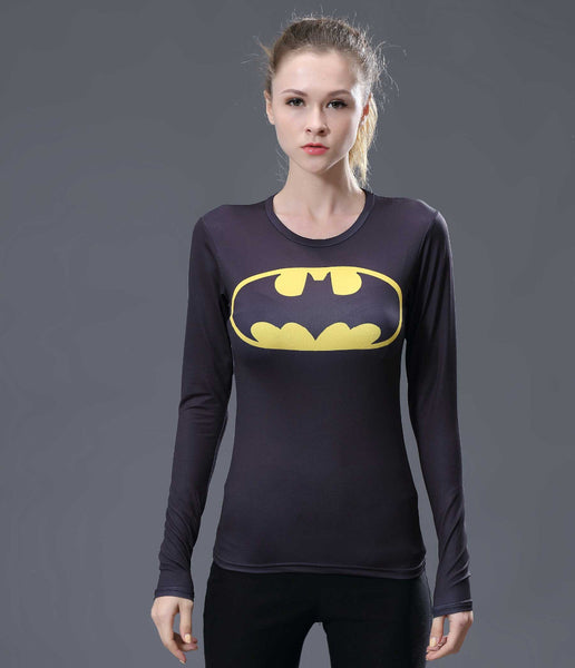Black Batman Compression Longsleeve - Fitness Elephants
