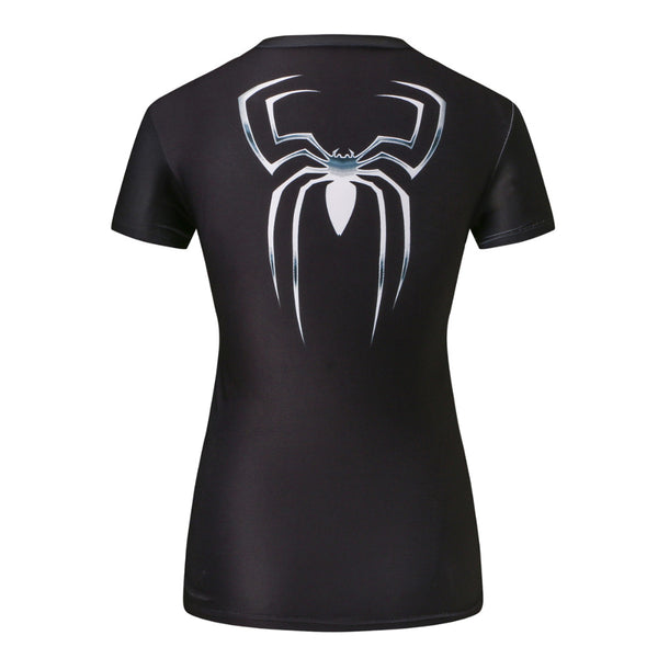Spiderman Black Compression Shirt - Fitness Elephants