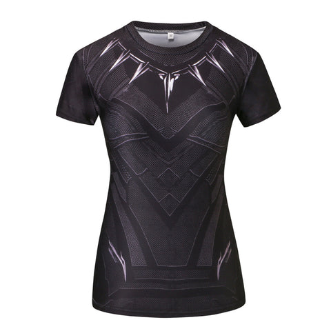 Black Panther Compression Shirt - Fitness Elephants