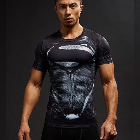 Superman Compression Shirt - Fitness Elephants