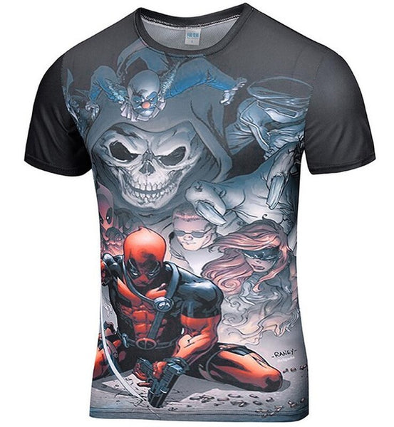 Deadpool Compression Shirt - Fitness Elephants