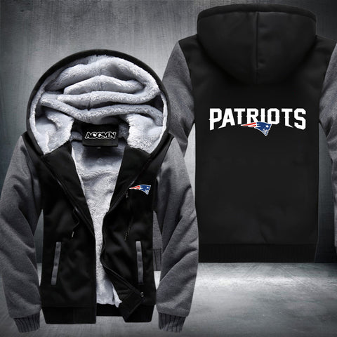 Patriots Thick Fleece Jacket Logo - Fitness Elephants