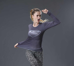Blue Superman Compression Longsleeve - Fitness Elephants