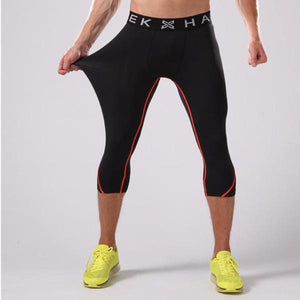 3/4 Elastic Compression Running Pants