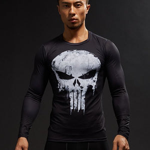 Punisher Men Compression Shirt - Fitness Elephants