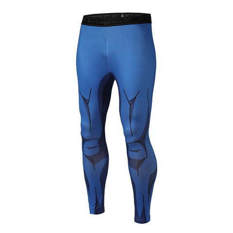 Dragon Ball Z Vegeta Armor Compression Pants - Fitness Elephants
