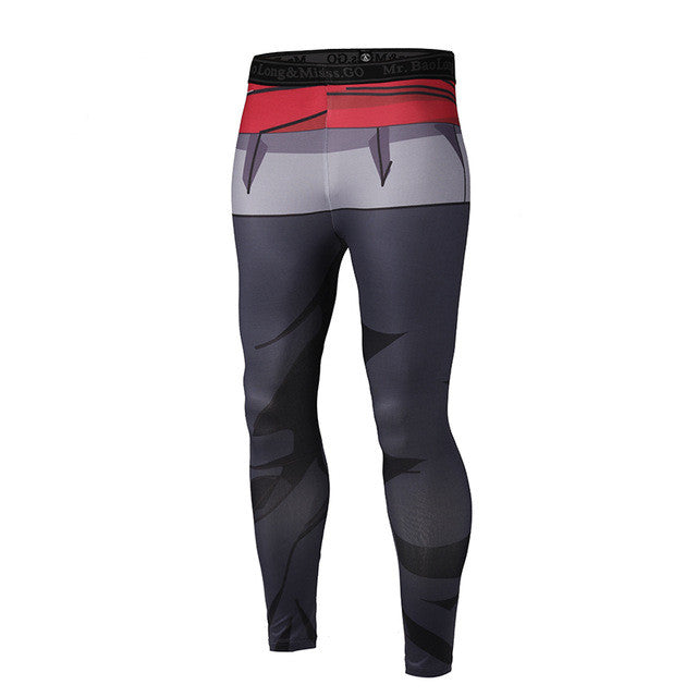 Dragon Ball Z Goku Black Compression Pants - Fitness Elephants