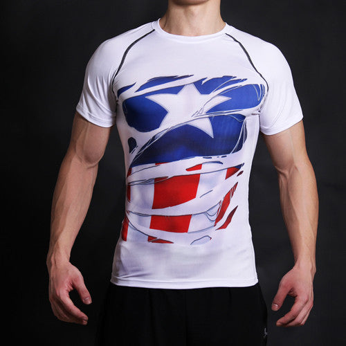 Captain America Alter Ego Compression Shirt - Fitness Elephants