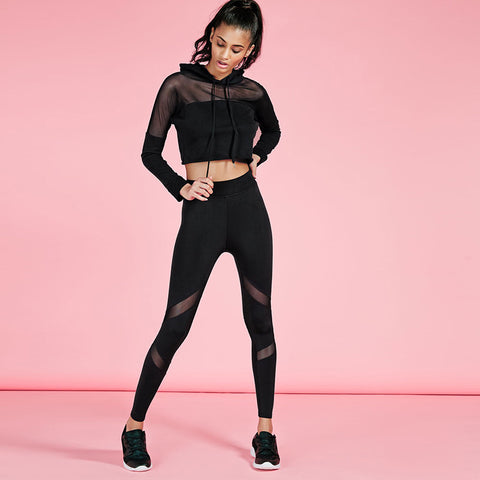 Hooded Mesh Tracksuit [2x piece set] - Fitness Elephants